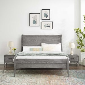 Georgia 3 Piece Twin Bedroom Set in Gray