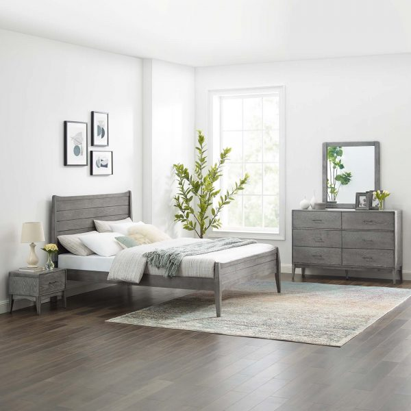 Georgia 4 Piece Twin Bedroom Set in Gray