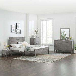 Georgia 5 Piece Queen Bedroom Set in Gray