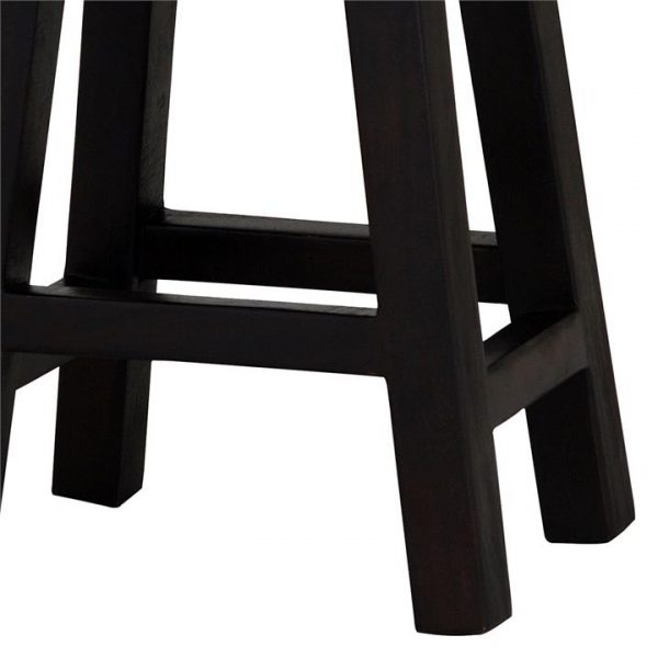 Goji Wood Bar Stool, Chocolate