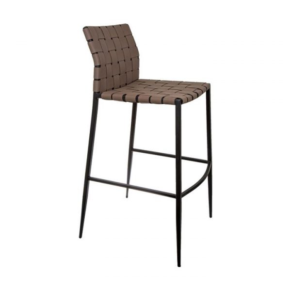 Jacq Leather Strap Counter Stool, Brown