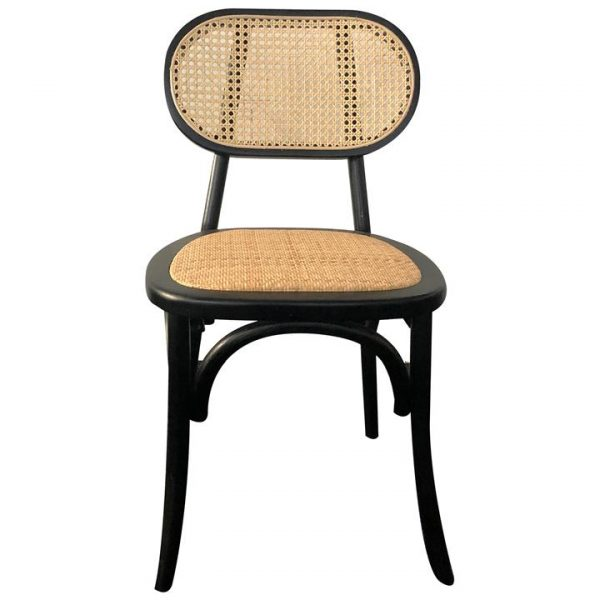 Lima Timber Dining Chair, Black
