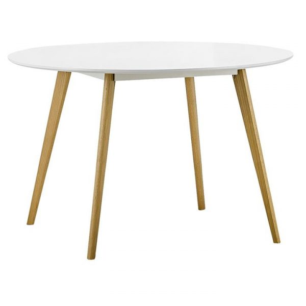 Line Round Dining Table, White