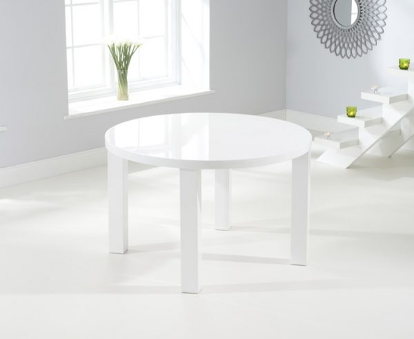 Mark Harris Ava White High Gloss 120cm Round Dining Table