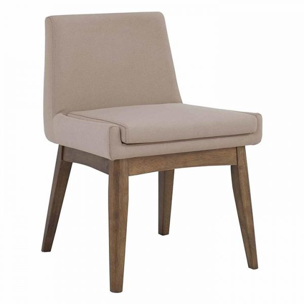 Melby Oak & Fabric Dining Chair, Natural Leg