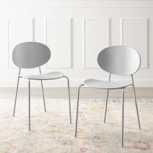 Palette Dining Side Chair Set of 2 in Gray