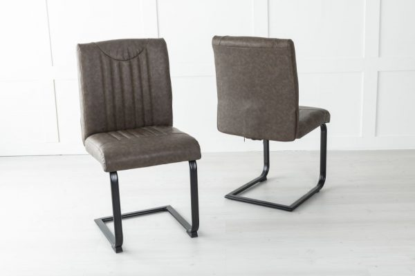 Perth Brown Faux Leather Dining Chair