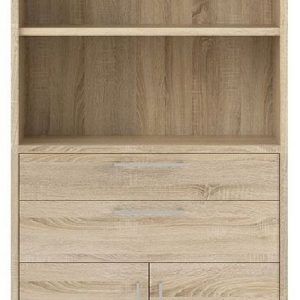 Prima Oak 2 Drawer with 5 Shelves Bookcase