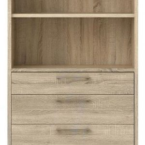Prima Oak 4 Drawer with 5 Shelves Bookcase