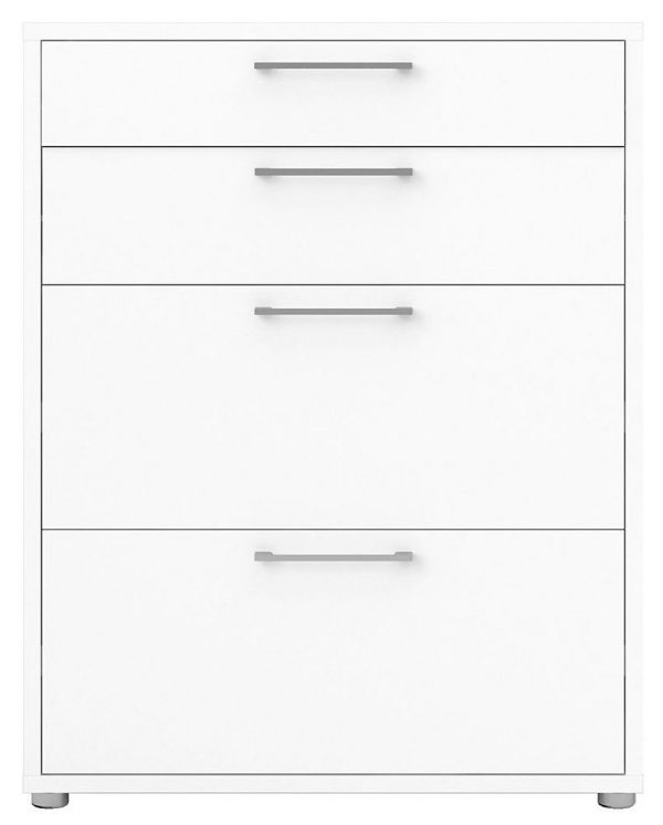 Prima White 2 Drawer with 2 Shelves Bookcase