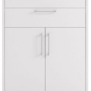 Prima White 4 Drawer with 2 Shelves Bookcase