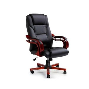 Artiss Executive Wooden Office Computer Chairs Leather Seat Sherman