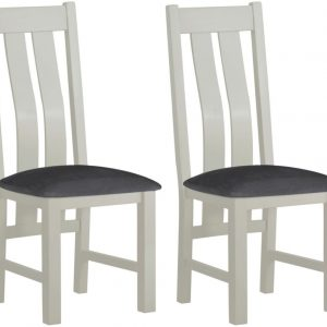 Clearance - Portland Stone Painted Dining Chair (Pair) - New - E-235