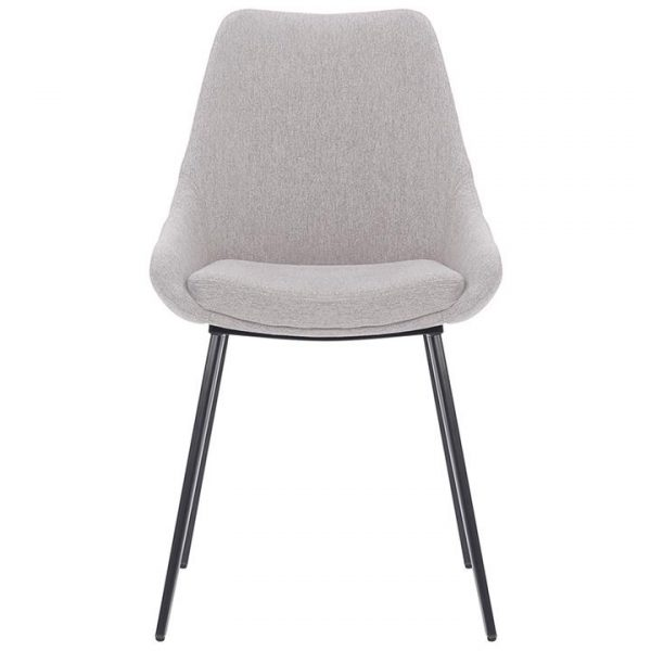 Daimyo Commercial Grade Stain Resistant Waterproof Fabric Dining Chair, Light Grey