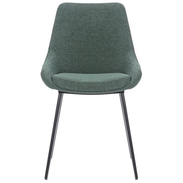 Daimyo Commercial Grade Stain Resistant Waterproof Fabric Dining Chair, Pine Green