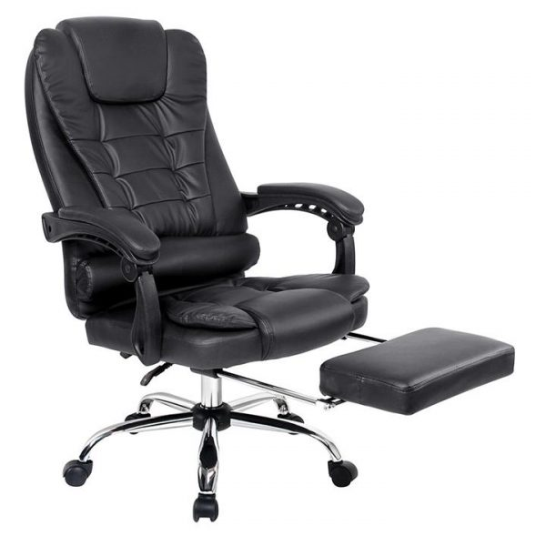 Fanla Executive Office Chair with Footrest, Black