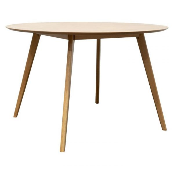 Helsted Oak Round Dining Table, 120cm, Natural