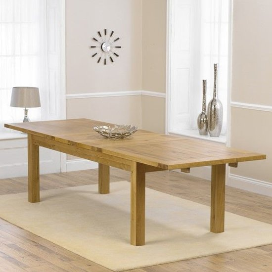 Kaveh Large Wooden Extending Dining Table In Oak