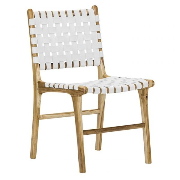 Lazie Teak & Leather Dining Chair (Set of 2)
