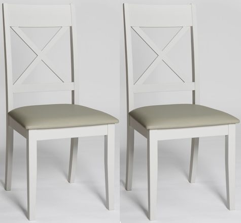 Ohio Painted Cross Back Padded Dining Chair (Pair)