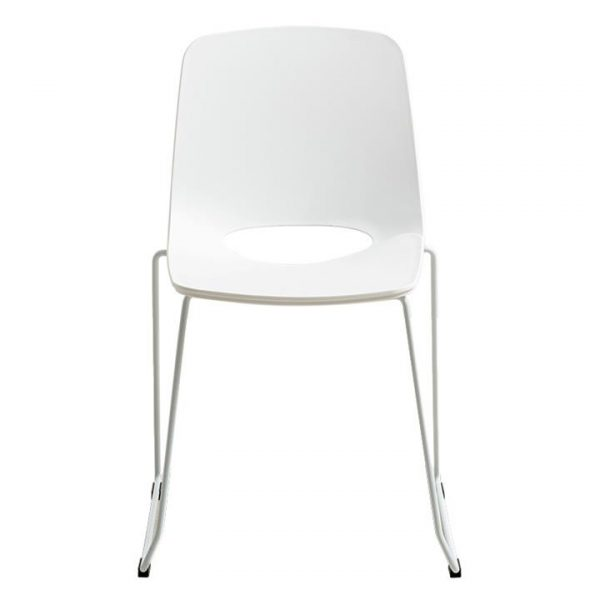 Olivia Commercial Grade Dining Chair, White