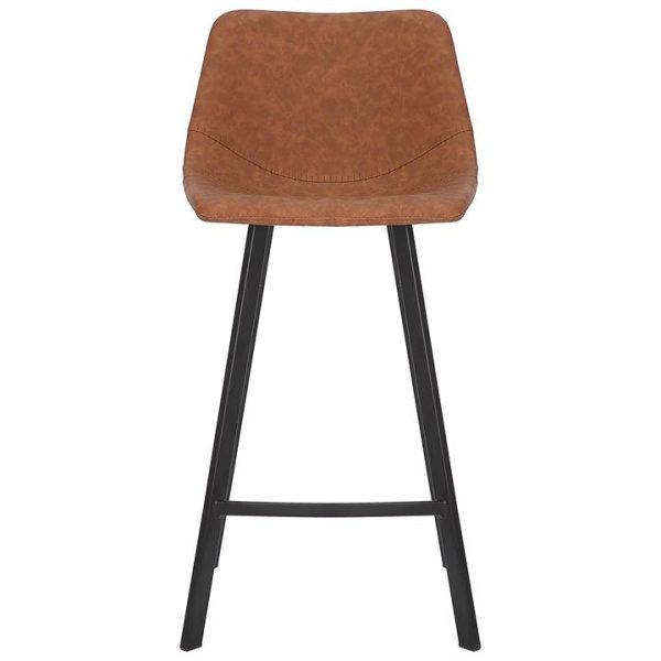 Orleans Commercial Grade Faux Leather Kitchen Stool, Tan