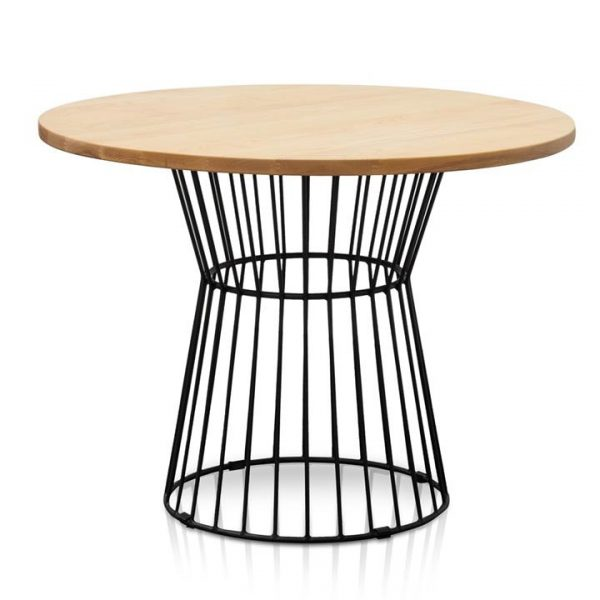 Osborne Timber & Metal Round Dining Table, 100cm
