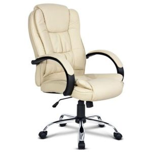PU Executive Leather Office Chair - Beige