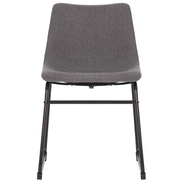 Prato Commercial Grade Stain Resistant Waterproof Fabric Dining Chair, Dark Grey