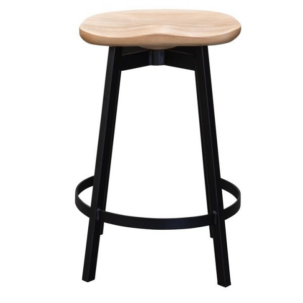 Rabel Ash Timber & Steel Counter Stool