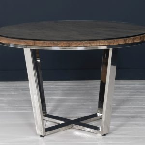 Reclaimed Sleeper Wood 120cm Round Dining Table - Reclaimed Dining Table