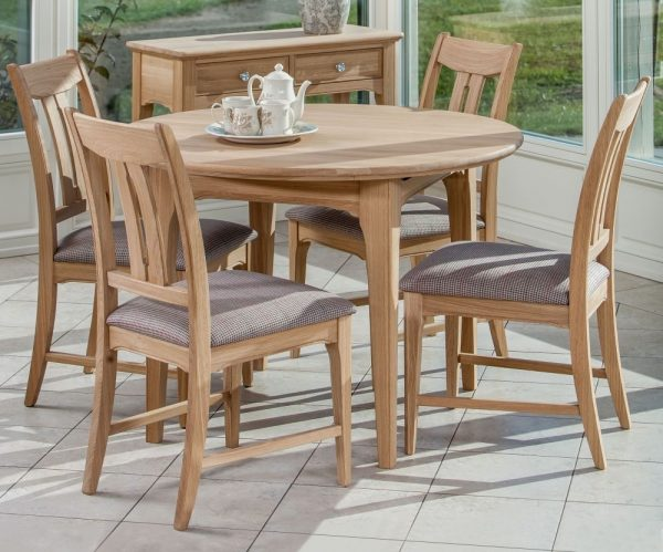 TCH New England Oak Round Extending Dining Table