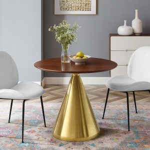 """Tupelo 36"""" Dining Table in Gold Walnut"""
