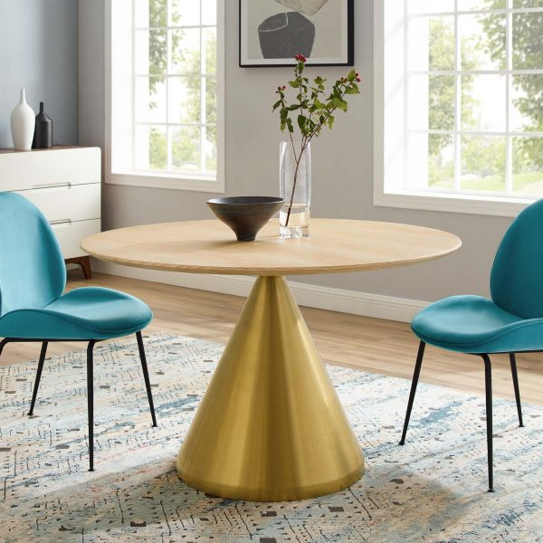 "Tupelo 47"" Dining Table in Gold Natural"