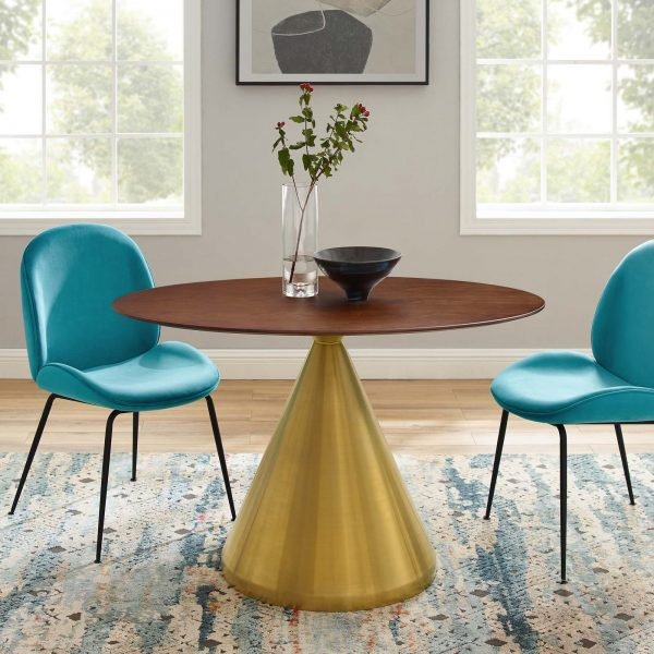 """Tupelo 48"""" Oval Dining Table in Gold Walnut"""