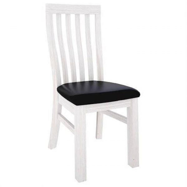 Viborg Solid Mountain Ash Timber Dining Chair with PU Seat